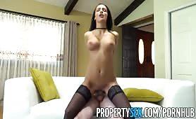 PropertySex Hot brunette agent fucks rich home buyer