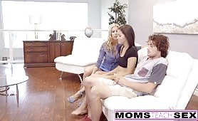 MomsTeachSex Step Mom Caught Me With My GF And Joins