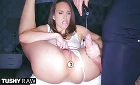 TUSHYRAW Nympho Beauty Begs For Anal Domination
