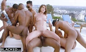 BLACKED Teanna Trump, Adriana Chechik, and Vicki Chase in a BBC GB.