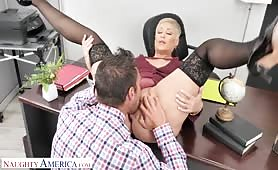 Naughty America Ryan Keely gives her employee a big Raise