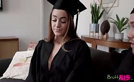 If You Graduate I Will Let You Fuck Me Stepsis Rides Me On Graduation Day