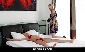 BadMilfs Hot Blonde Teen Shares Cock With Mom