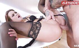LETSDOEIT Sex Addict Babe Shows Off Her Ass Fucking Abilities
