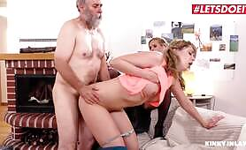 Kinky Inlaws - Teen Girl Fucking Her Step Daddy While Mommy Is Watching
