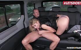 LETSDOEIT - European Babe Karina Grand Gets Multiple Creampies In The Uber