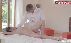 RelaXXXed Hot MILF Oiled And Rough SEX with Masseur LETSDOEIT