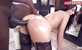 Her Limit Big Booty Babe Katy Rose Takes A Huge BBC Up Her Ass
