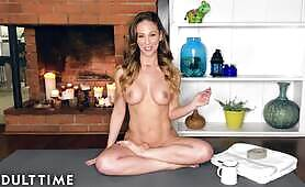 ADULT TIME Oiled Up Naked Yoga with Insatiable MILF Cherie Deville