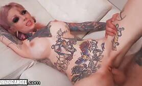 BurningAngel Busty & Inked Sydnee Vicious Gets Pussy Slammed