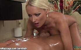 NuruMassage Blonde Babe Diana Doll Slippery Nuru Massage