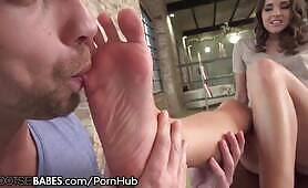 FootsieBabes Amirah Adara Drilled as Feet Worshiped and Licked