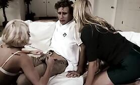 PURE TABOO Jealous Mom Caught Fucking Son in front of Girlfriend