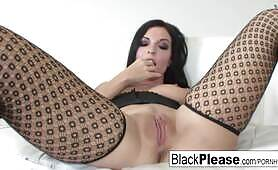 Tattooed starlet Aria really loves the black cock
