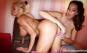 Alison Tyler & Nikita Dildo Each Other
