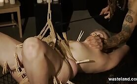 Grunge Sadistic Master In BDSM Action With Clothes Pins Toys And Fetish Fun