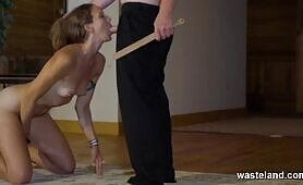 Maledom Master Serviced Orally While Disciplining With Spanking
