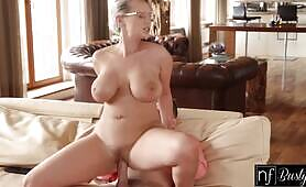 Busty Blonde Gets a Load of Cum On Her Massive Tits After Multiple Orgasms S11:E9