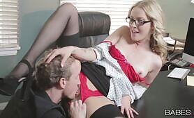 Babes Karla Kush gets some big dick in the office