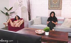 Girlsway Eliza Ibarra Gets Caught By Roommate Whitney Wright While Masturbating