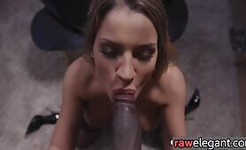 Dicksucking busty euro anally rammed by BBC