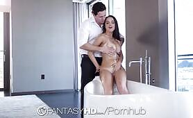 FANTASYHD Welcome Home Fantasy Fuck With Bathing Babes