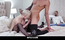 Horny MILF Natasha James Gets Creampied While Husband Watches