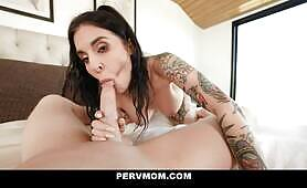 Horny Ex-Convict MILF Joanna Angel Takes Her Innocent StepSon's Hot Jizz Inside Her Juicy Pussy
