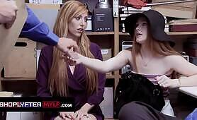 Ginger Stepmom and Step Daughter Caught Stealing Stuff From the Mall