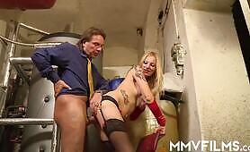 Big dick anal creampie for German Kitty Blair