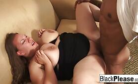 Big Beautiful Woman Gets Interracial Dick