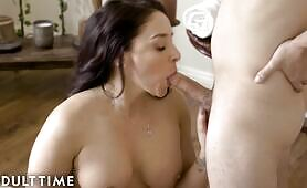 ADULT TIME Destroying Stepmom Sheena Ryder's Ass With Anal At The Spa!