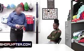 Ebony Princess Amari Anne Caught Stealing And Pounded To Submission In The Backroom