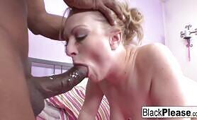 Big Tittied Babe Loves Taking Big Black Cock
