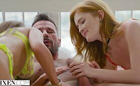 VIXEN Jia Lissa has intense threesome with Sonya in Paris